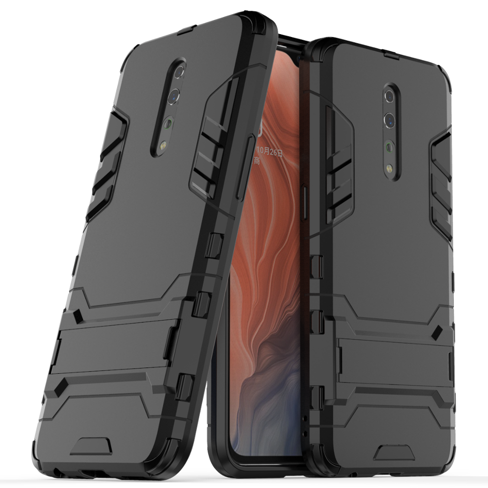 2019 New Products Kickstand Shockproof PC TPU Ultra Thin Phone <strong>Case</strong> For Oppo Reno <strong>Z</strong> <strong>Case</strong> Cover