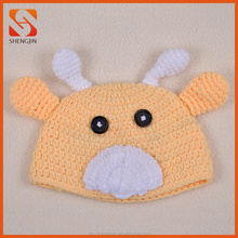 Lovely soft comfortable newborn crochet baby hat 100% handmade knitted hat for christmas decoration
