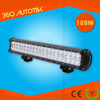 Factory supply 126w Led Light Bar car roof top light bar For 4x4 Atvs Suv Utv