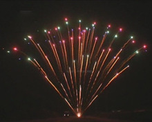 "0.8"" 300 shots 1.3G UN0335 peacock fireworks, salute pyrotechnic"