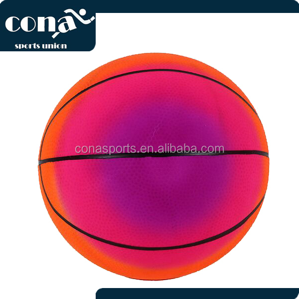 16 Inch Rainbow Playground Ball PVC Colorful Basketball /Beach Volleyball /Football For Kids Trainning Practice Toy Balls