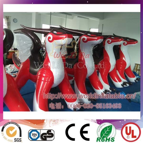 Best Material Outdoor Advertising Inflatable Red Dragon For Sale