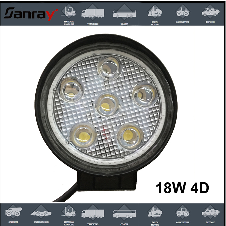 New Offroad led work light, Auto led flash working lights, 18W square led car light