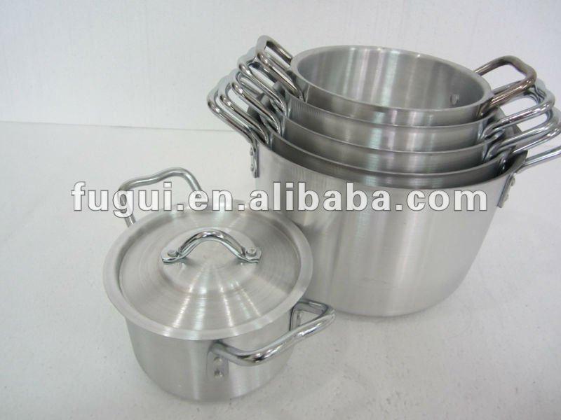 C ncava mango de aluminio olla juegos de utensilios de for Utensilios de cocina de aluminio