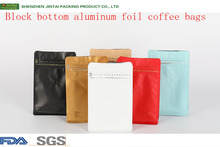 Wholesale price aluminum foil coffee bean packaging bags with zipper and valve