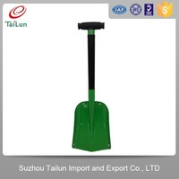 green Aluminium snow shovel/folding snow shovel for car