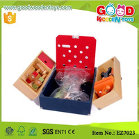 Factory Sale Pretend Play Tool Box Early Learning Wooden DIY Intelligent Toy