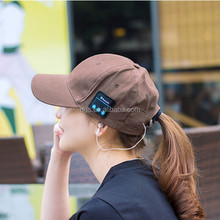 Wireless Bluetooth Sports Baseball Cap Canvas Smart Sun Hat Music Headphone Speaker Handsfree With Mic For Smart Phone