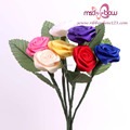 Home decoration artificial ribbon flowers for sale