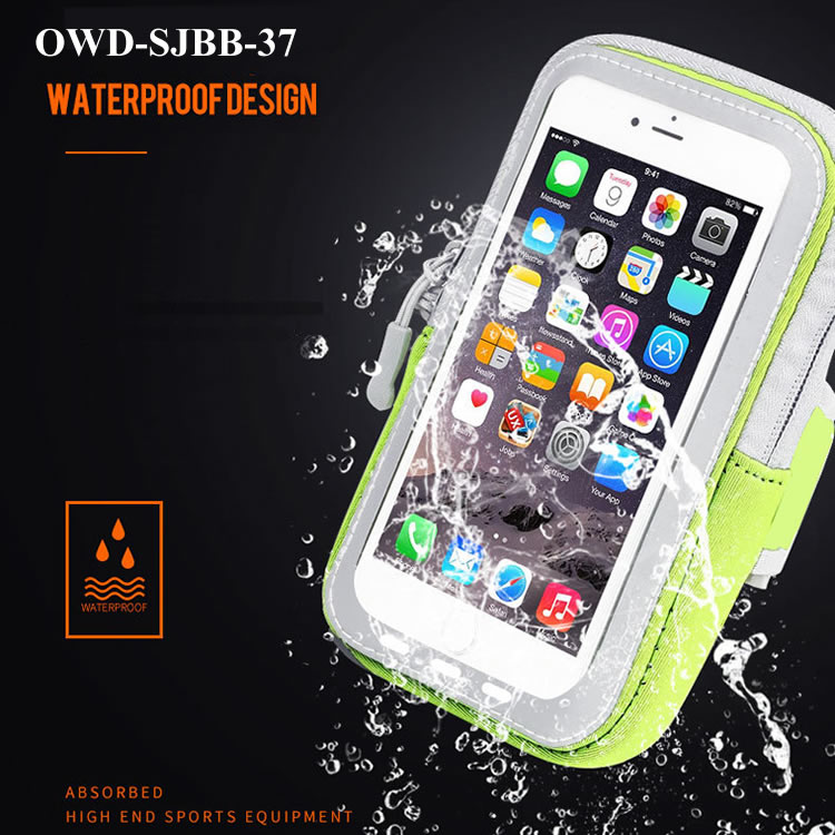 New design foot band waterproof bags for mobile phone with earphone place