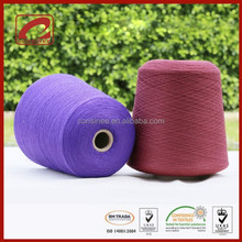 Topline fancy core spun yarn blended polyester and viscose yarn