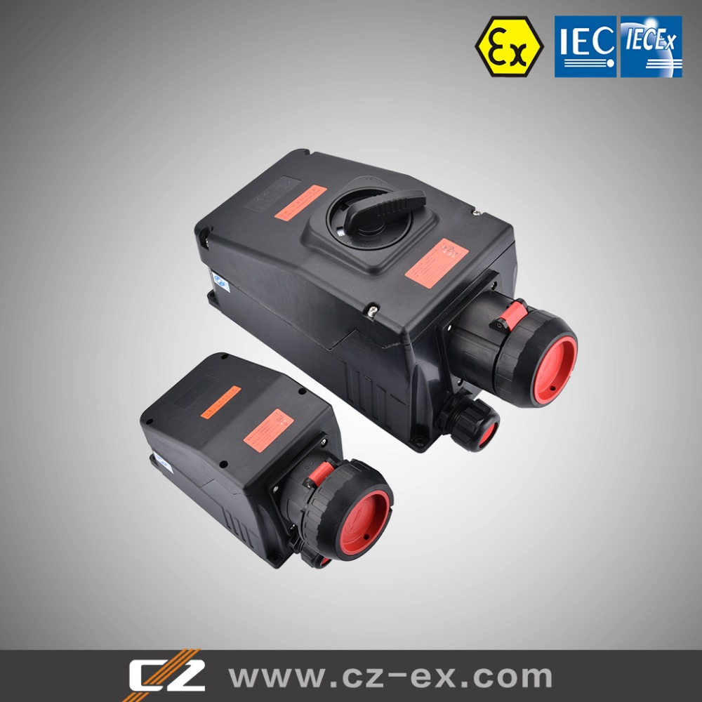 63A Full plastic explosion-proof mobile power branch connection socket box