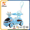 China wholesale four plastic wheels electric baby ride on toy car with push bar