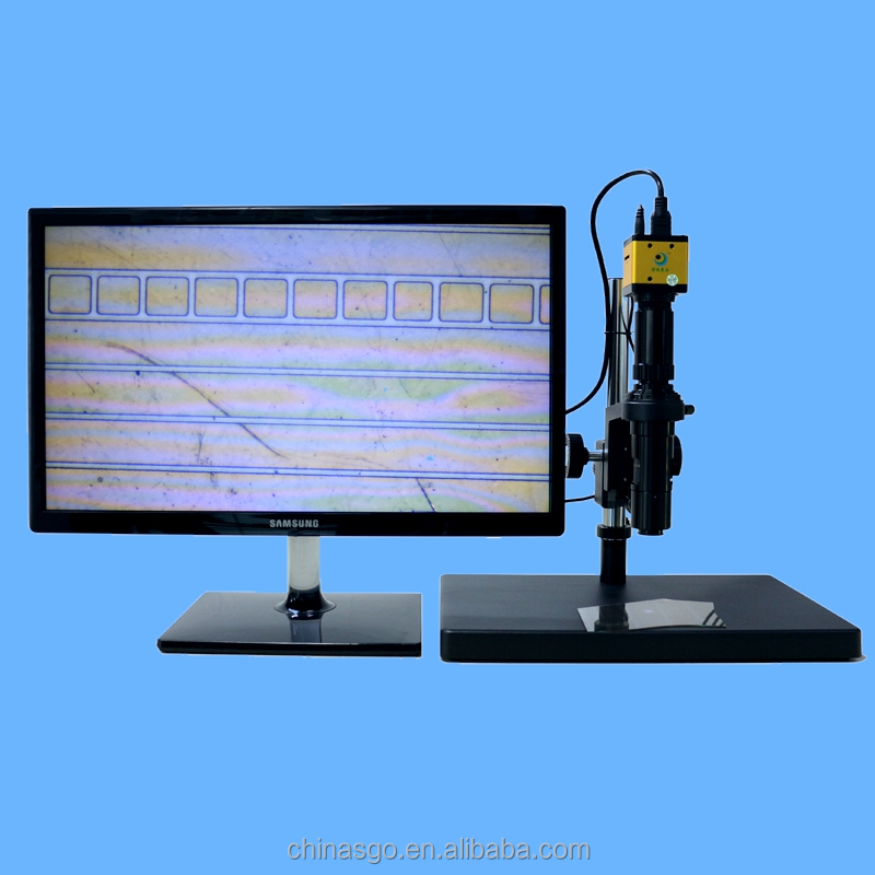 Hot sale low price professional test ITO Video digital microscope 28X-180X magnification SGO-200HRT