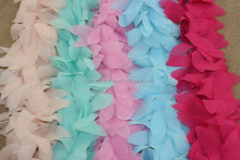 17 Colors Available Chiffon Leaves Trimmings For Dress,Chiffon Lace Trimmings,Peach Pink Mint Aqua ivory Trimmings For Garments