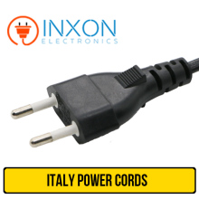 HIGH QUALITY ITALY 2 PIN POWER CORDS / STRAIGHT PIN POWER PLUGS