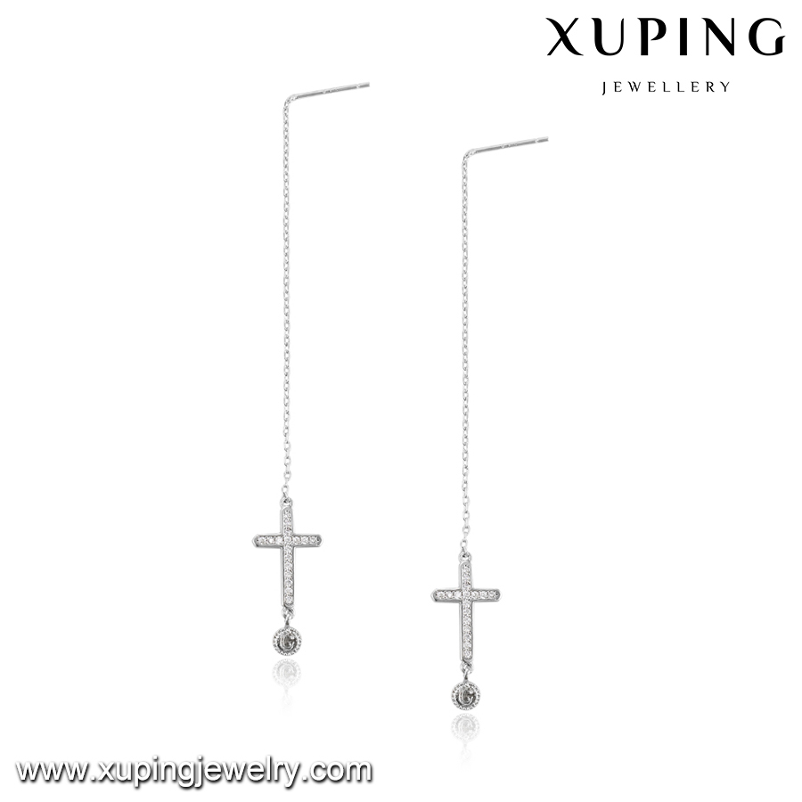 92736 XUPING fashion crystal cross earrings,simple earring,earring stud