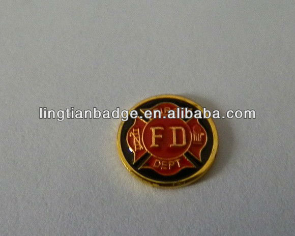 high quality Fire engine and control department metal coin