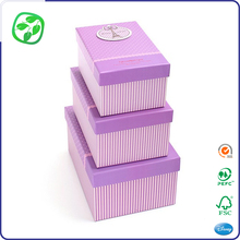 fancy design sweet gift box with lid and base, logo cute gift box