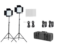 China manufacturer Fstphoto 1000 bright LEDs bi color professional LED video lighting kit with DMX control