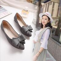 LM2353Q 2017 cheap women bow casual shoes pointed flat shoes