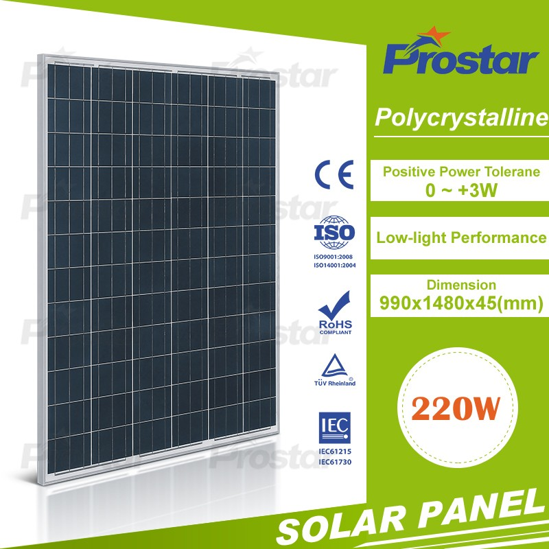 top quality cheap price 220w poly solar panels