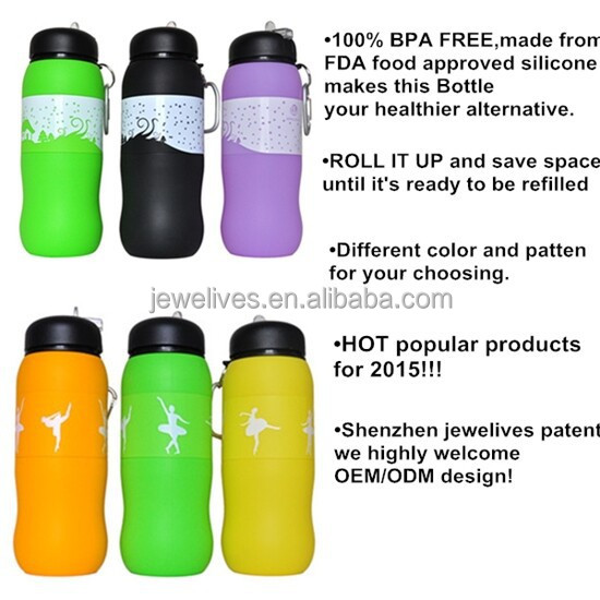 600ml Eco Good Grade Bpa Free Cheap Silicone Oxygenate Water Bottle