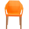 New Stackable Dining Plastic Chair Leisure Chair Wood  Legs Commercial Chairs