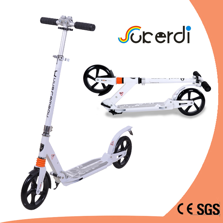 Most popular big wheels kick scooter 100% aluminum foldable scooter for teenagers