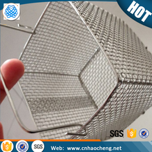 Fine food grade stainless steel wire mesh cooking fast food basket with lid
