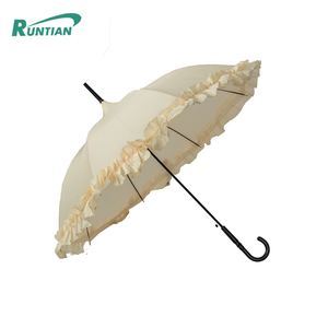 auto folding ladies white lace umbrella wedding