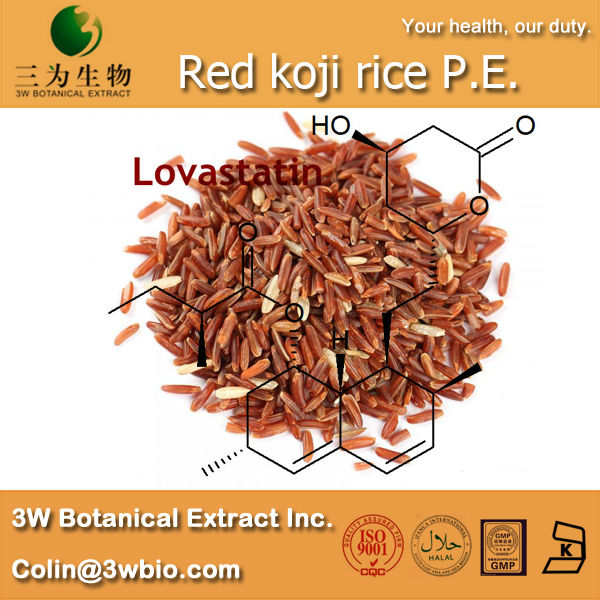 3W supply Red koji rice P.E. Powder ( 100% Natural and Healthy )