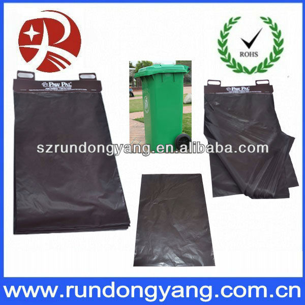 black oxo biodegradable plastic garbage bag