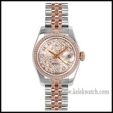 Fashion watches red dial bilateral buckle, alloy, folding, mechanical men's watch gold watches