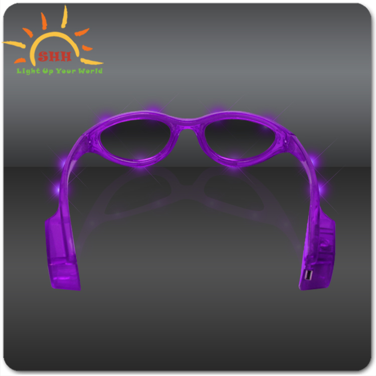 new products 2015 innovative products halloween flashing led sunglasses glow in the dark, light up sunglasses party