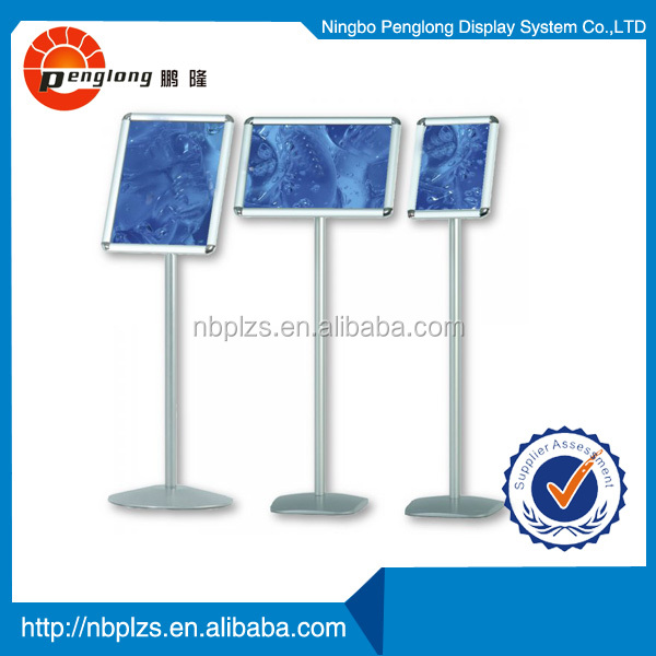 floor stand aluminum sign post metal sign frame A3 t-stand poster