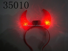 cow horn buffalo horn devil horn led headband for party