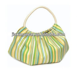 Hot sales stripe canvas bag for shopping and promotiom,good quality fast delivery