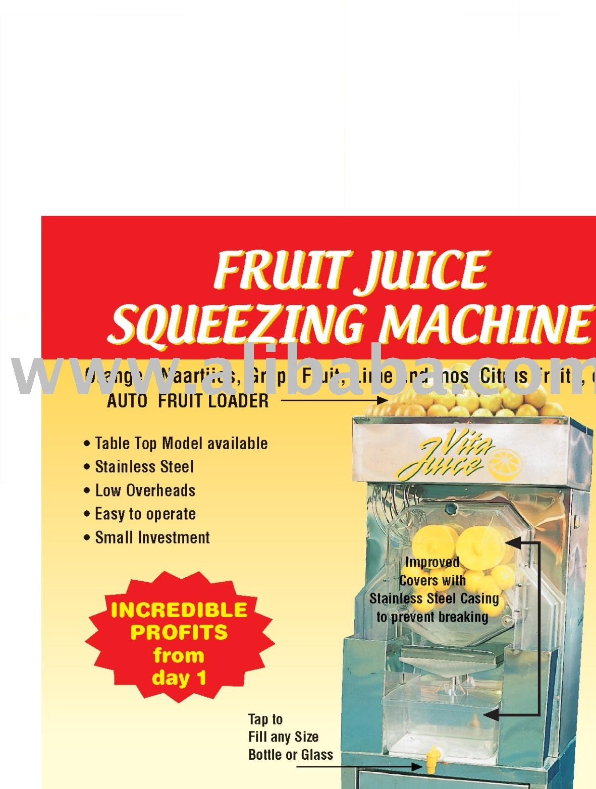 Fruit Juice Squeezing Machine