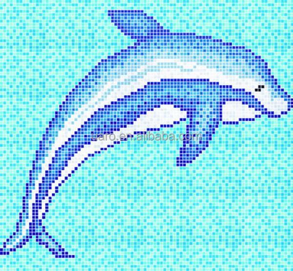 Piscina mosaico de vidro padr o de cavalo animal marinho for Pool design handbook