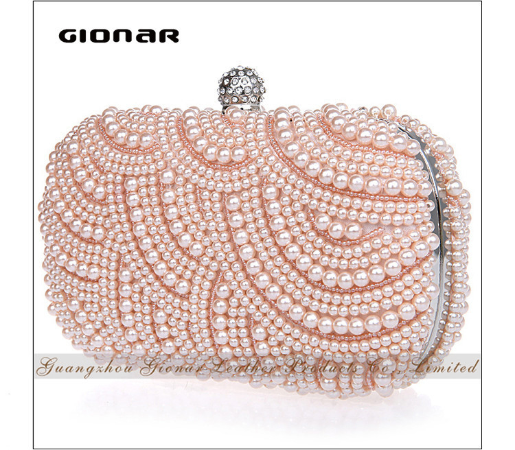 Cocktail Party Pearl Clutch Crystal Evening Bag