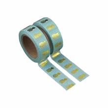 DIY 15mm*10m colorful customize printing decorative foil washi paper tape for craft box