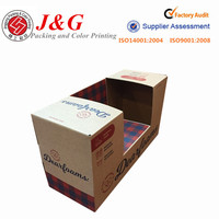 CMYK color printing kraft corrugated paper packaging for shoes