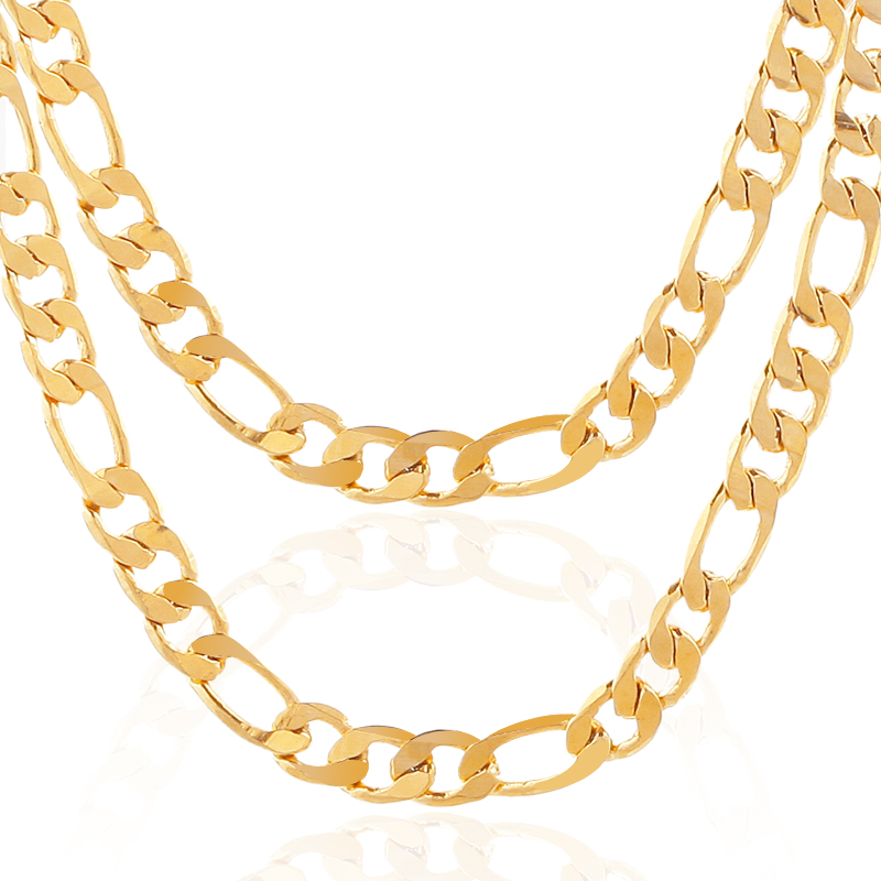 ATHENAA Gold <strong>Necklace</strong> For Men Jewelry 18K Real Gold Plated Chains Fashion Jewelry