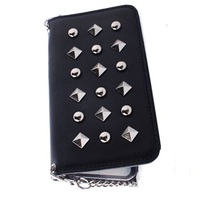 Leather mobile phone case with chain