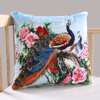 Traditional design printed cushion cover with beautiful flower