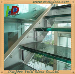 low laminated glass stairs price from manufacturer