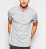 65% cotton 35% lycra men's printed short sleeve embroidery polo shirts