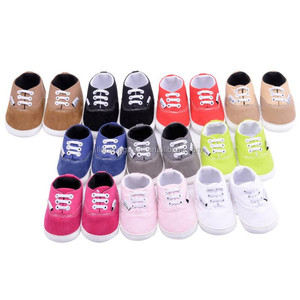 2018 New Baby Girls Infant First Step Crib soft canvas baby shoe
