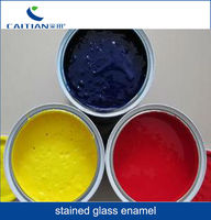 opaque glass ink water/oil base lead enamel glass pigment